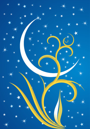 Ramadan evenings. Stars, crescents and mosques. Stock Vector - 7525877