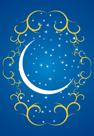 Ramadan evenings. Stars, crescents and mosques.