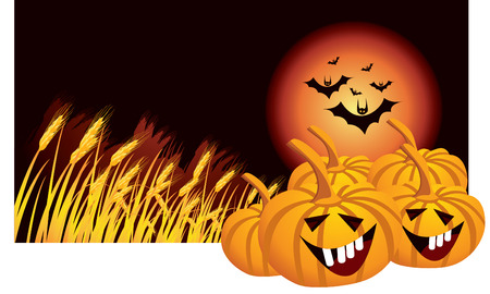 carved pumpkin: halloween Illustration