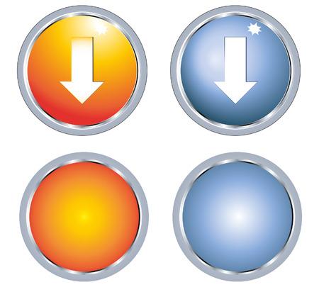 arrow and button Stock Vector - 8104319