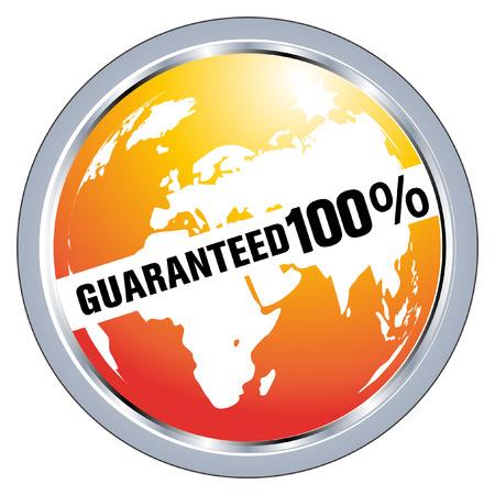 guaranteed label Stock Vector - 8104309