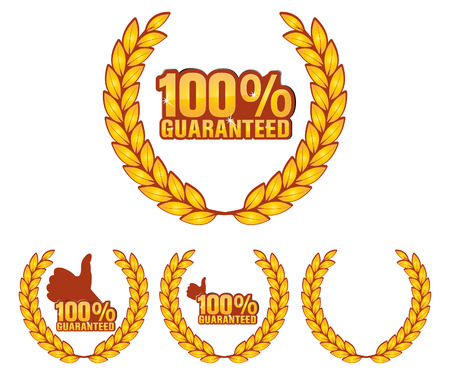 guaranteed label and award Stock Vector - 8104325