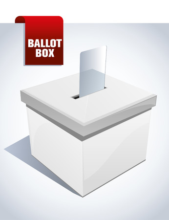 verkiezingen: stembus Stock Illustratie