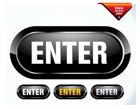 enter black button Illustration