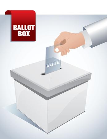 ballot paper: ballot box