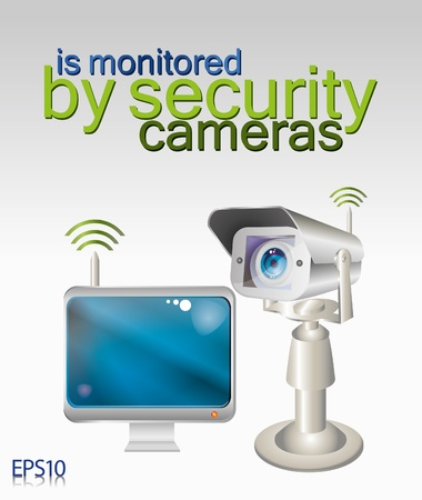 security camera Stock Vector - 8431767