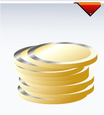 coin Stock Vector - 8431757