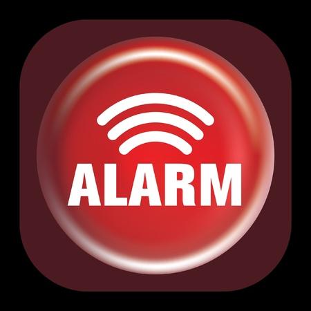 alarm button Stock Vector - 8553897