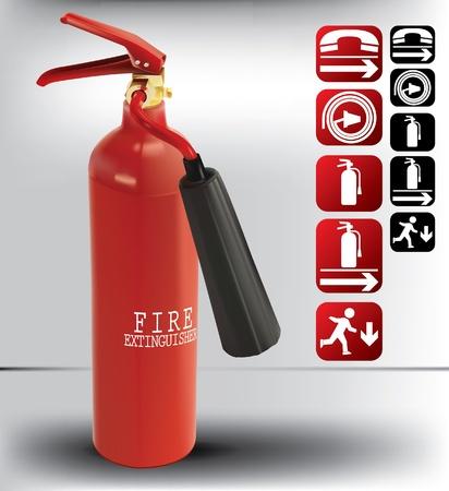 fiambres: extintor de incendios