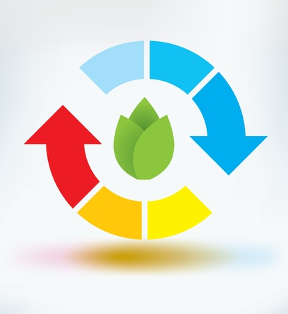 circle arrow: recycle icon Illustration