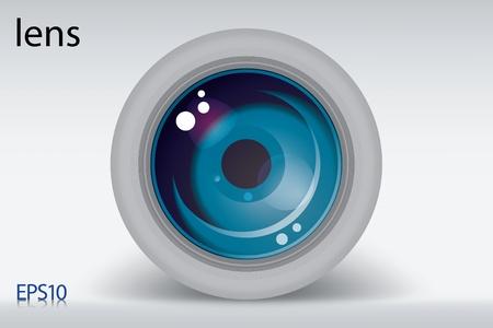 focal point: camera lens