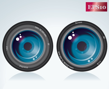 shutter aperture: camera lens