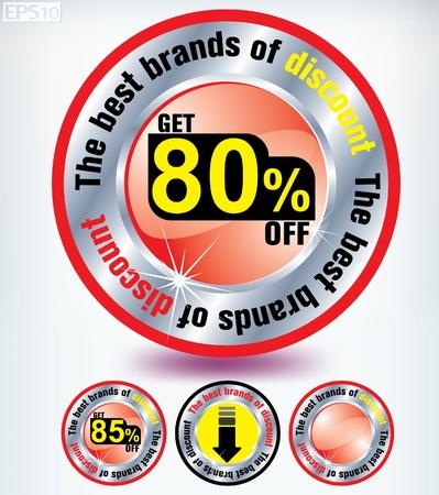 discount button Stock Vector - 8787365