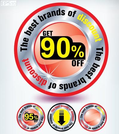 discount button Stock Vector - 8787363