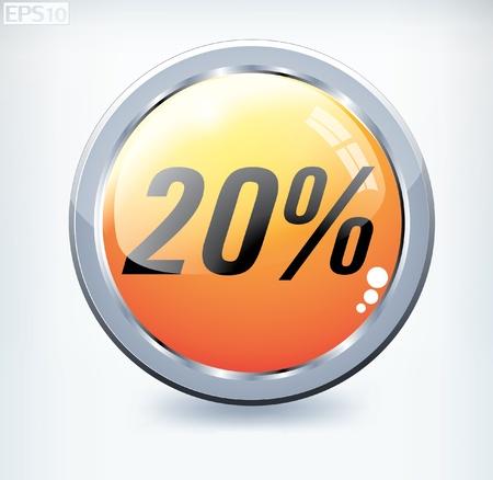 percent button