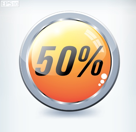 percent button Stock Vector - 8787385