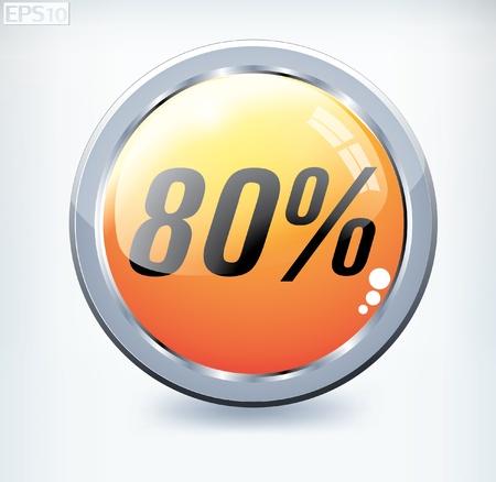 percent button Stock Vector - 8787383