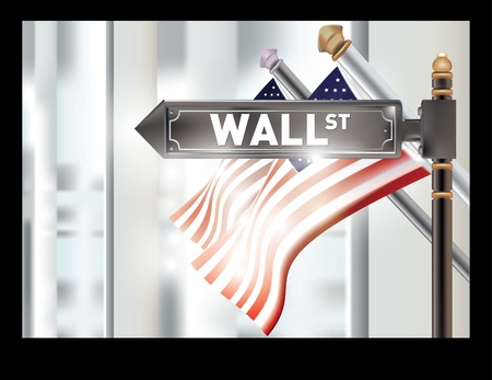 new york street: wall street sign