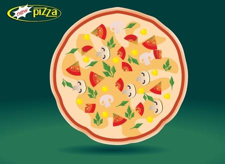 onion slice: pizza Illustration