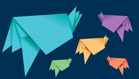 origami paper speech bubble Illustration