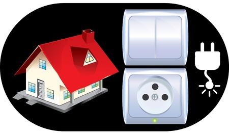 Sockets and switches Stock Vector - 10765663