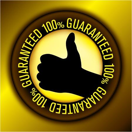 guaranteed label Stock Vector - 10765665