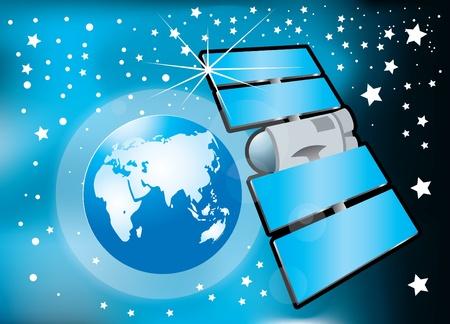 communications satellite Stock Vector - 10765668