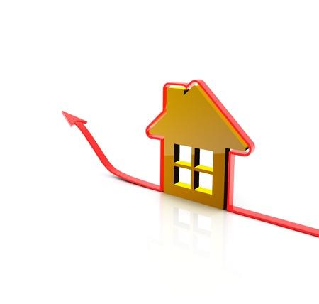 home value: 3d render house