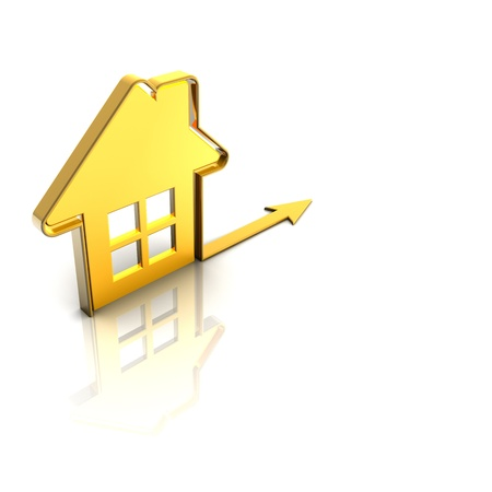 3d render house Stock Photo - 12002337