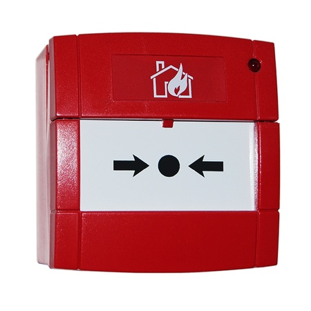 red alarm  button Stock Photo