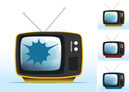 broken tv and old tv Stock Vector - 12023408