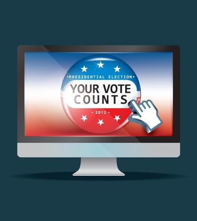 renuncia: EE.UU. las elecciones presidenciales en el 2012 Vectores