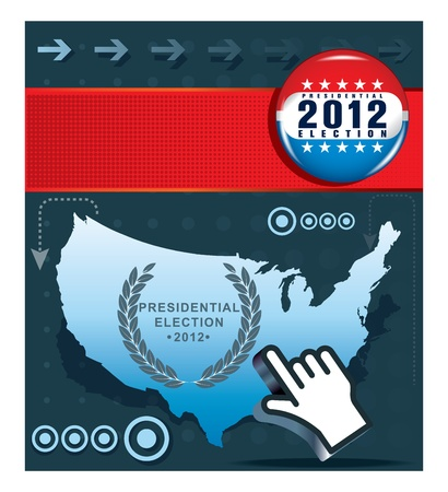 US presidential election in 2012 Vector