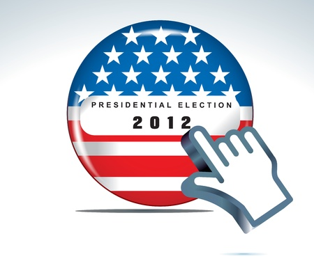 suffrage: US presidential election in 2012 Illustration