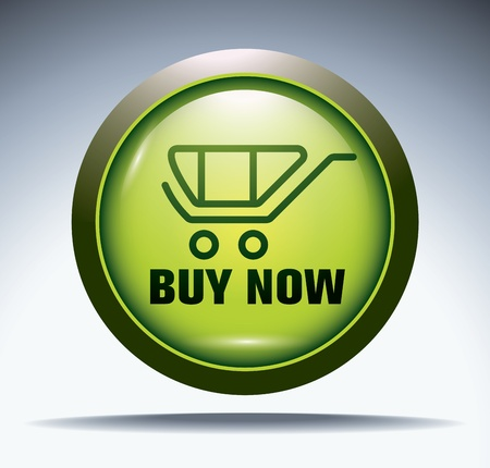 green -buy now- button Vector