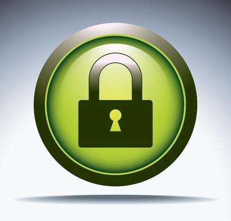 security button Stock Vector - 12174028