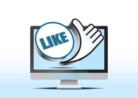 like hand and computer screen Stock Vector - 12482986