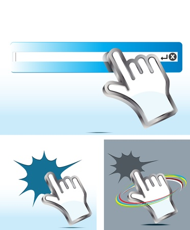 hand cursor Stock Vector - 12482988