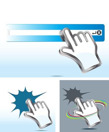 hand cursor Stock Vector - 12482988