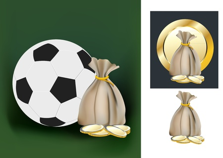 football and money Stock Vector - 12482997