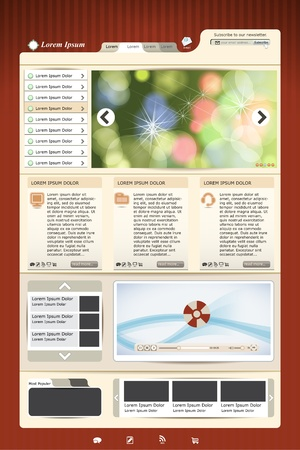 web template Stock Vector - 12483003