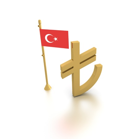 The new symbol of Turkish Lira Stock Photo - 12774515