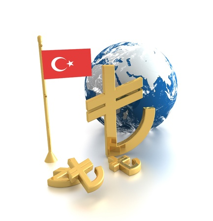 The new symbol of Turkish Lira Stock Photo - 12774517