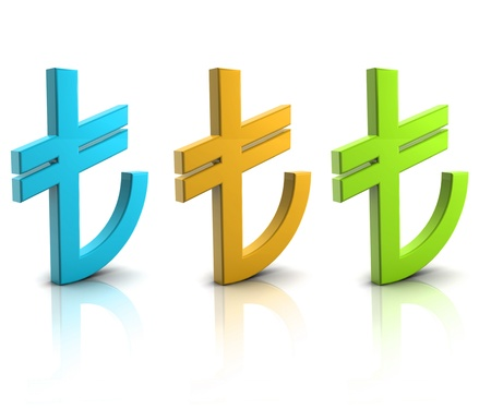 The new symbol of Turkish Lira Stock Photo - 12774520