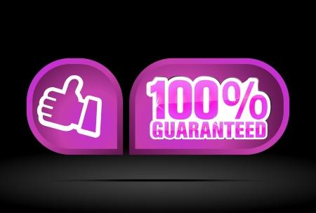guaranteed label Stock Vector - 16762570