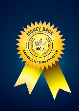 guaranteed label Stock Vector - 18534265