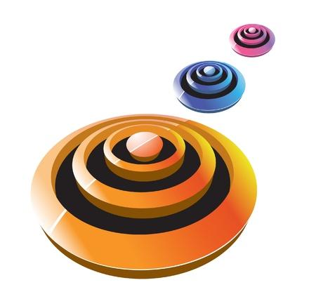 globe logo: 3d shape