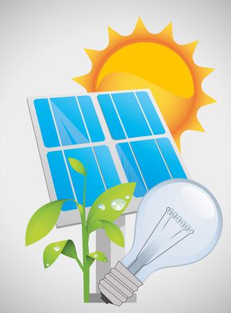 Solar Energy Illustration