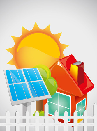 solar roof: Solar Energy Illustration