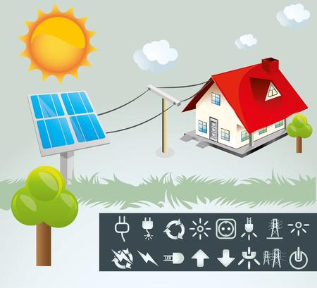 photovoltaic panel: Solar Energy Illustration